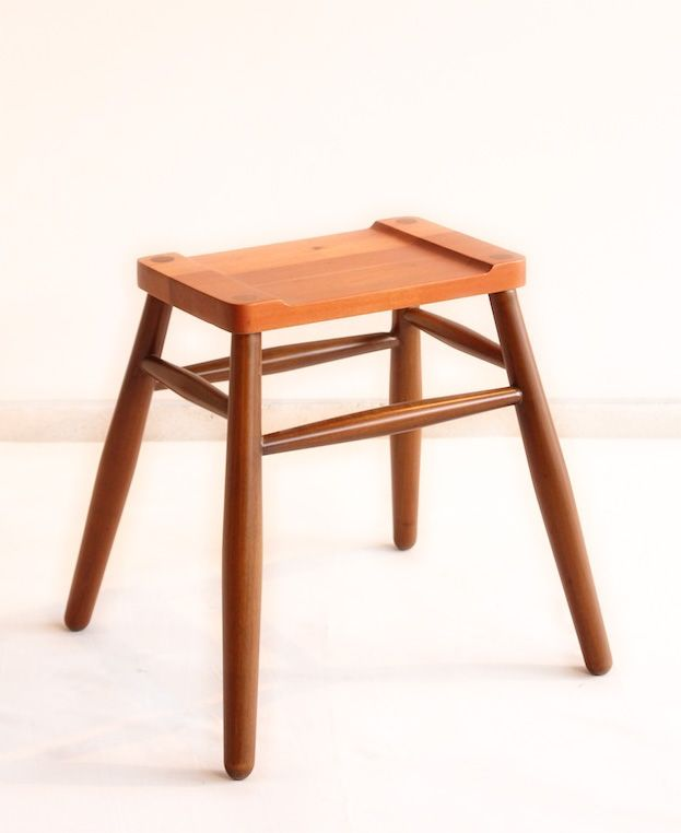 Sula Rectangular Stool. Sula Rectangular is made from solid mahoni wood with semi gloss finishing. Its size is 35cm x 24cm x height 45 cm
