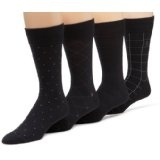 IZOD Men's Mens Dressy Pattern Sock 4-Pack, Navy, One Size (Apparel)By IZOD