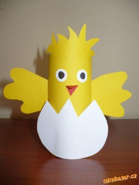 Jarní a velikonoční výzdoba z ruliček