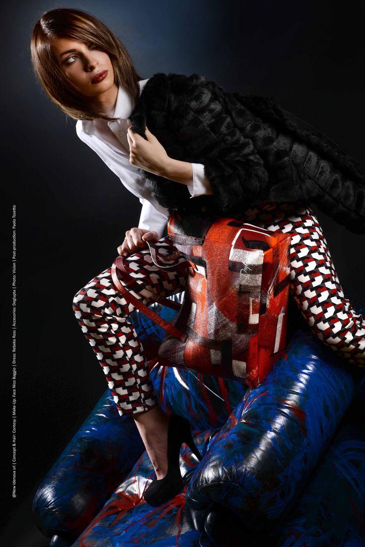 LIBERTY collection AI-2016|17 ©NewIdenova srl | Concept&hair: Contesy | Make-up: Face Nico Baggio | Dress: Rebeka Ross | Accessories: Deglupta | Photo: Vision | Post-production: Paolo Tosetto