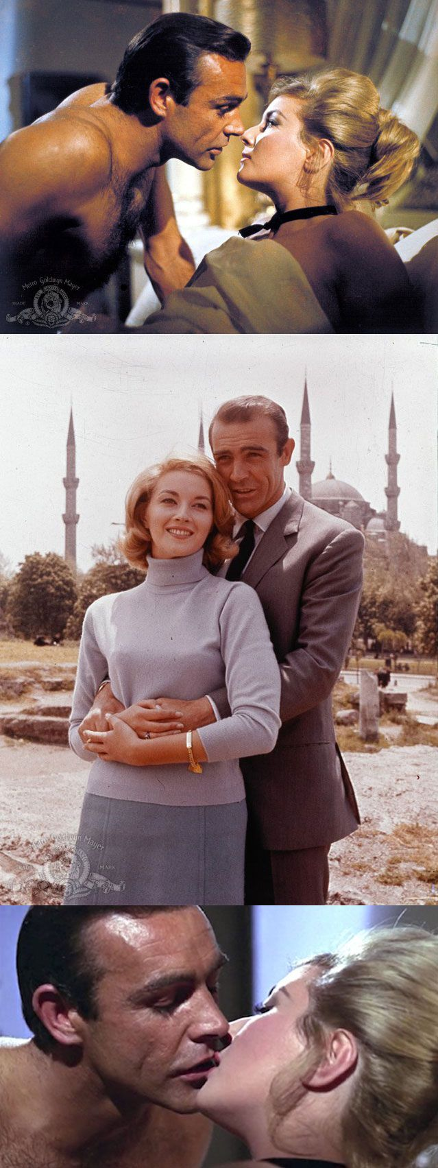 Sean Connery as 'James Bond' & Daniela Bianchi as 'Tatiana Romanova' in From Russia with Love (1963)
