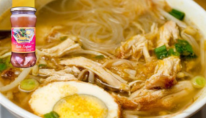 Surinaams eten – Saoto met rijstvermicelli, gepluiste kip en taugé