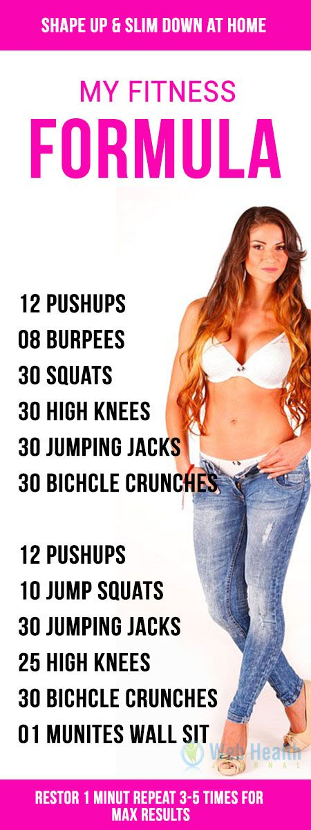 My fitness Formula : Shape up and slim down at home. #ab_workouts