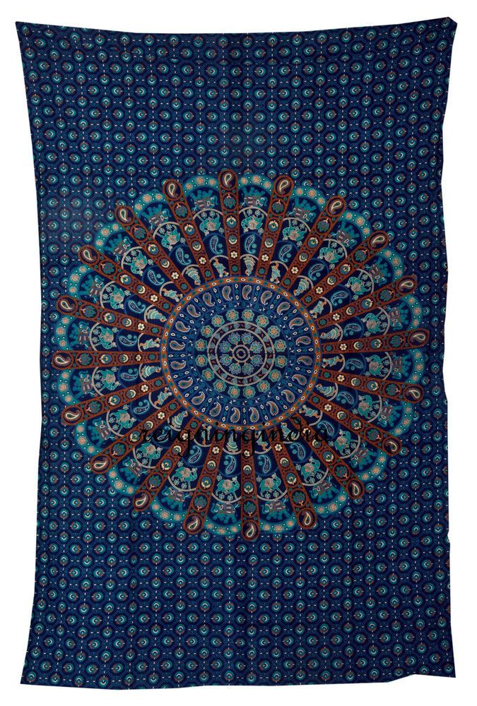 Hippie Indian Mandala Tapestry Twin Wall Hanging Ombre Bedding Bedspread Throw #Handmade #Country #BedspreadTapestry