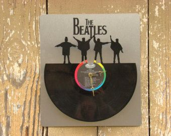 Re-purposed, recycled Vinyl Record - L.E.D. Back Lit Beatles quartz clock - Will NOT be on the Help Album