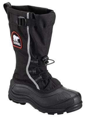 Sorel Alpha Pac XT Waterproof Insulated Boots for Ladies - Black/Red Quartz - 10M