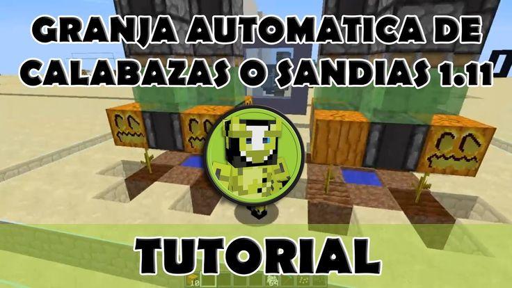 Tutorial Minecraft | Granja automática de calabazas o sandias usando obs...
