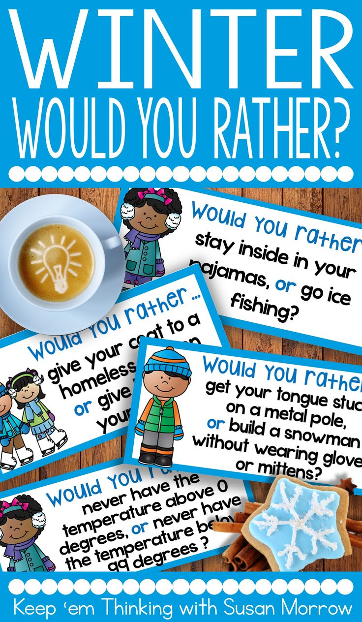 FREEBIE ALERT! Want to get your students turned on to writing? Kids love to talk about themselves and these FREE winter theme Would You Rather? writing prompts are just the thing to get your kiddos into opinion writing. The graphic organizers included help students organize their thoughts in the pre-writing process! These would make a great writing center, or morning writing prompts for students in second grade, third grade, and fourth grade #wouldyourather? #winterwriting #opinionwriting