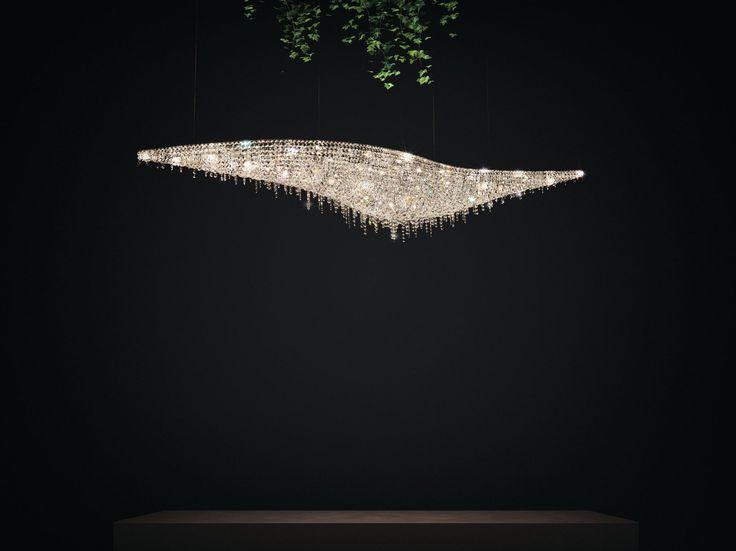 VAGUE Crystal pendant lamp by Manooi  #crystalchandelier #lightingdesign #interior #chandelier #coollamps #luxury #Manooi