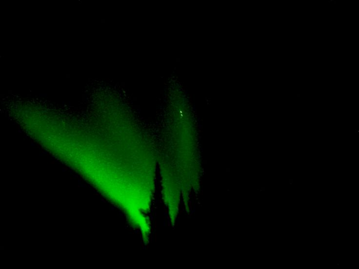 Northern lights Yukon Territory using my iPhone!