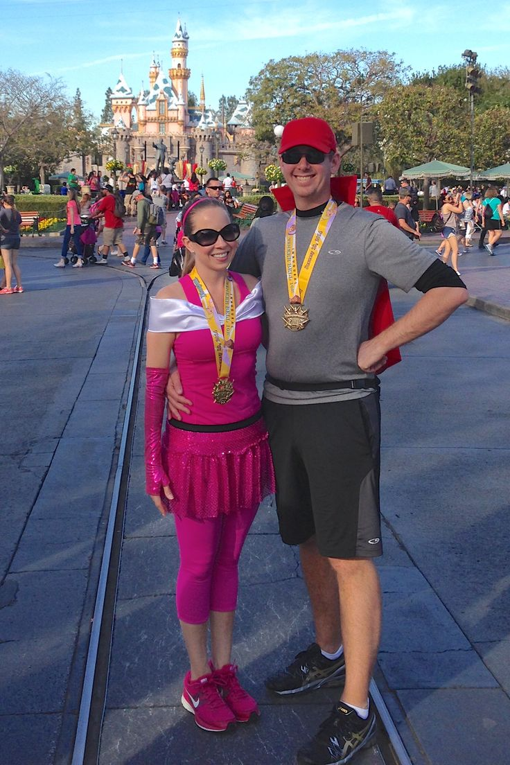 Our Princess Aurora and Prince Philip running costumes from Sleeping Beauty!!! Run Disney