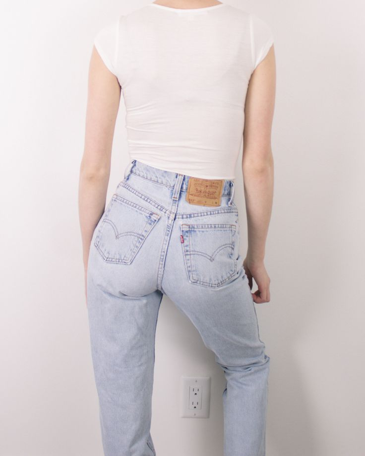 Vintage (Size XS) 80s Levis 512 High Waisted Denim Jeans