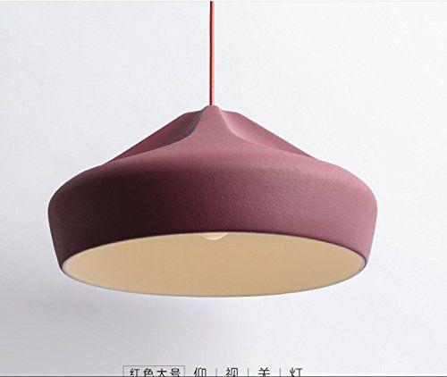 PinWei@Sala da pranzo in ceramica lampadari, lampadari in vetro smerigliato (quando l'ordinazione si prega di specificare colore, dimensione),B,Bianco 24 * 18cm: Amazon.it: Illuminazione