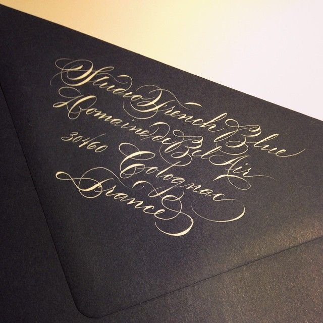 17 Best Images About Calligraphy Envelopes On