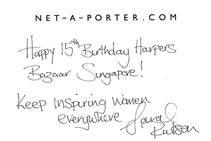 BAZAAR Singapore 15th Birthday GreetingsBAZAAR Singapore 15th Birthday Greetings