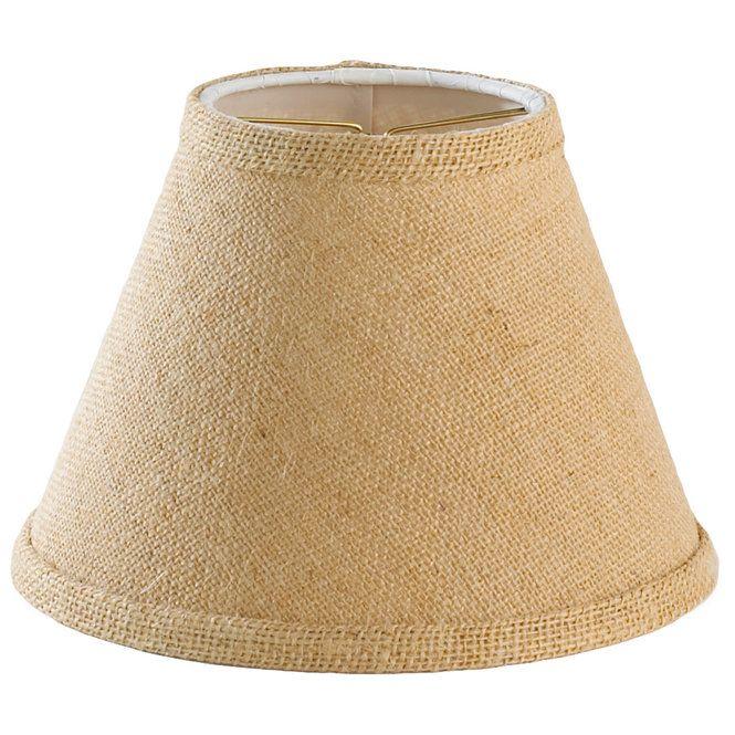 8 Burlap Candle Clip Shade Burlap Candles Wall Lamp Shades Replacement Lamp Shades