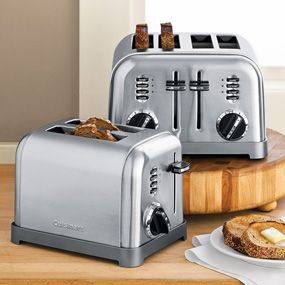 We have the two slice model - I love the simple, classic lines of this toaster.