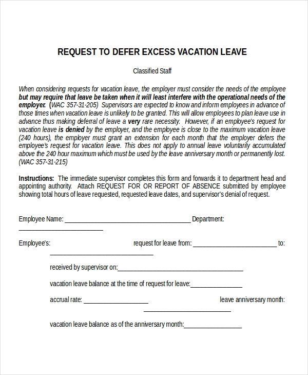 Image Result For Sample Of Leave Letter Letter Templates Free