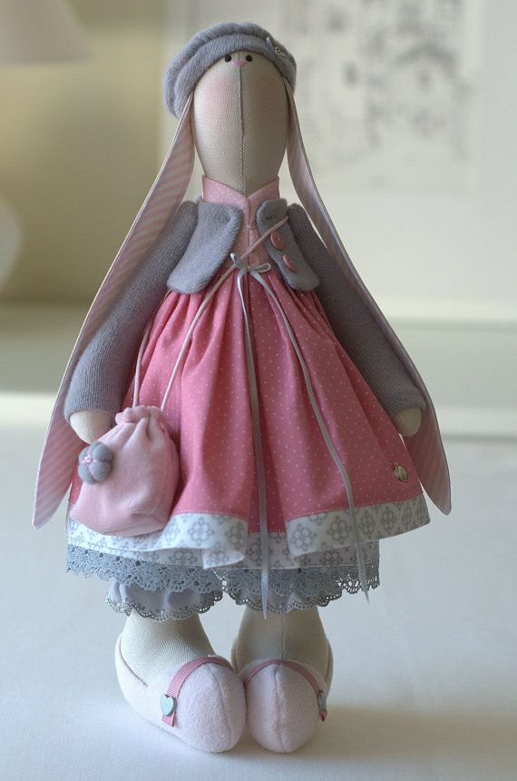Chloe Bunny-Rabbit Toy-Hare Toy-Fabric Bunny-Textile Bunny-Fabric Doll-Home Decoration-Handmade Bunny-Interior Doll