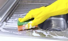 como limpiar un fregadero de acero inoxidable 2