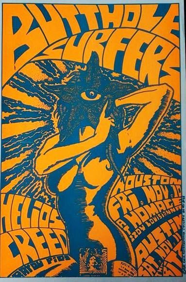 Butthole Surfers gig poster