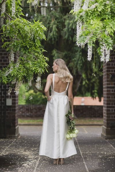 Céline Rita Bridesmaid Dress Wedding Dress Bridal Backless Wintergardens Auckland