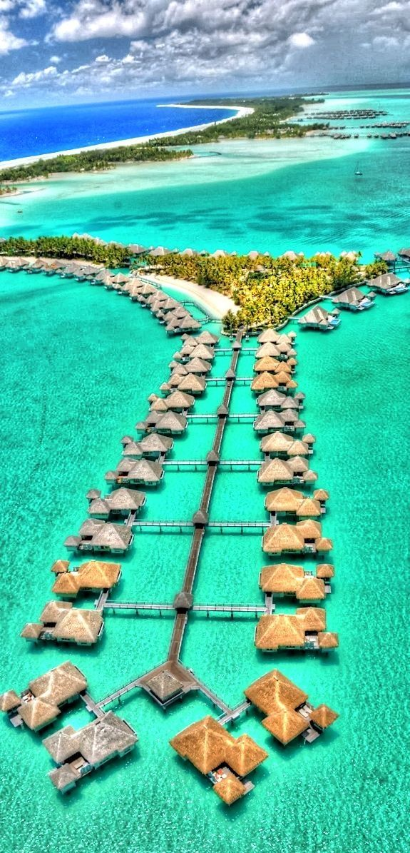 Bora Bora Tahiti One day I will be sitting on the deck of one of these!