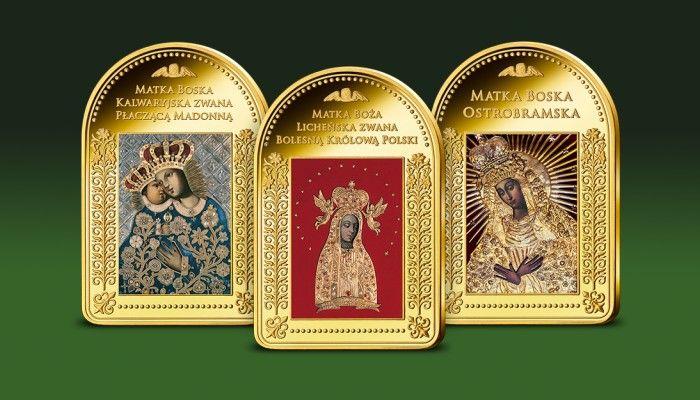 Wizerunki Matki Boskiej: Kalwaryjskiej, Licheńskiej oraz Ostrobramskiej