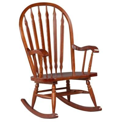 cherry wood rocking chair