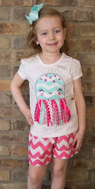Jellyfish Ribbon applique shirt sizes 12 months by GFJClothingCo, $19.00  For Q to wear!