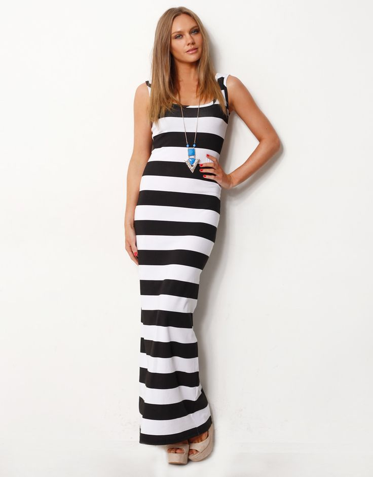 Singlet dress maxi blue
