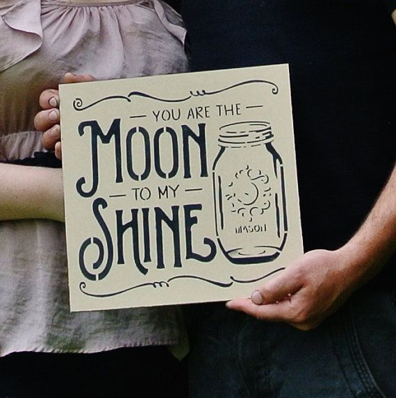 Wood Sign, Moonshine sign, you are the MOON to my SHINE whiskey, gift to him country boy rustic wedding mason jar anniversary gift decor