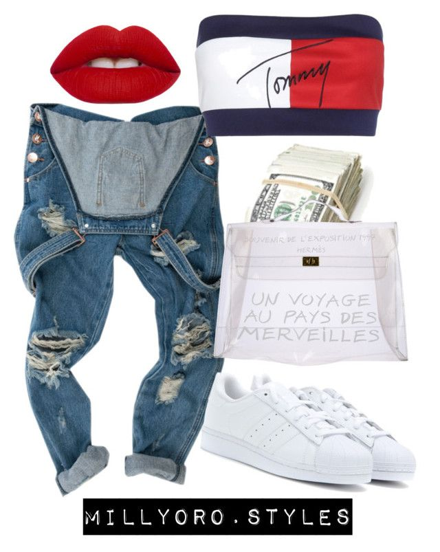 Untitled #221 by milly-oro on Polyvore featuring Tommy Hilfiger, adidas Originals and Hermès