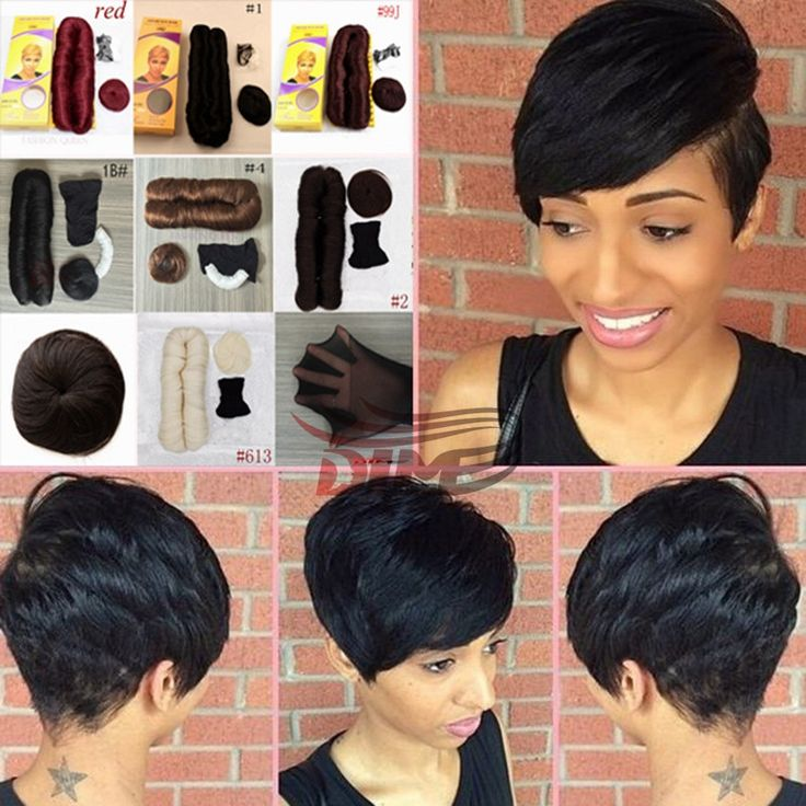 Short Hairstyle Simple Pixie Cuts 100% Short Weave Human Hair For Women 2PCS Virgin Brazilian Hair With Free Closure Short Bump