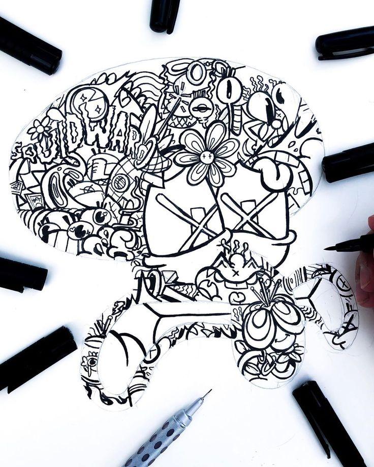 "Gawx Art on Instagram ""Working on my crazy squidward"