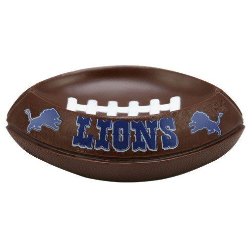 "NFL 6.5"" Soap Dish NFL Team: Detroit Lions  https://allstarsportsfan.com/product/nfl-6-5-soap-dish-nfl-team-detroit-lions/  16941 NFL Team: Detroit Lions Features: -NFL soap dish. Color/Finish: -Displays the official NFL team colors and logo. Dimensions: -Width: 6.5""."