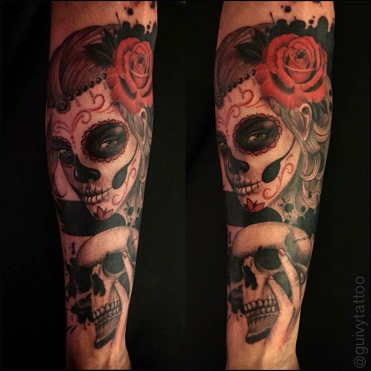 #catrina #santa #muerte #dayofthedead #catrinatattoo#mexican #skull #tatouage #guivy #artforsinners #tattoo #tatouage #geneva #geneve #switzerland #girlgang