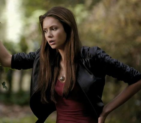 ELENA GILBERT BLACK LEATHER JACKET