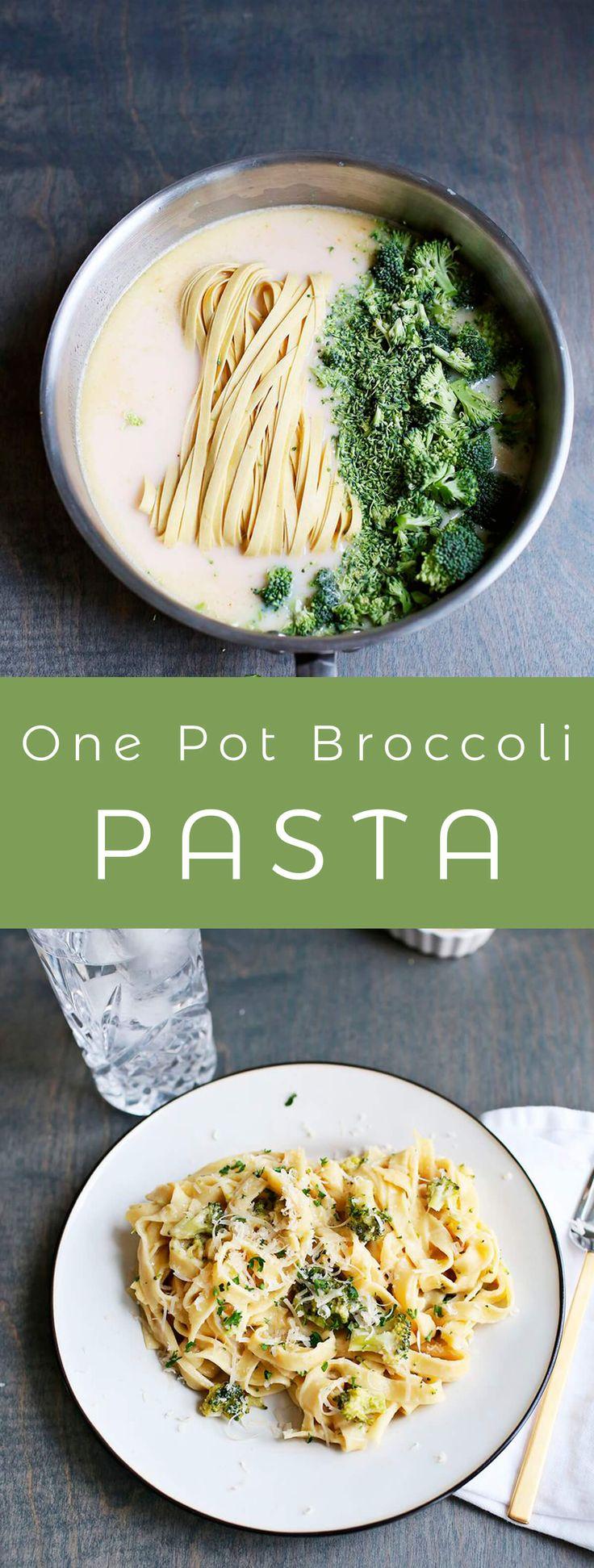 One pot creamy broccoli pasta