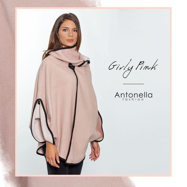 Υπέροχη ροζ κάπα για σικ εμφανίσεις! #antonellacomgr #shop #online #kapa #yfasmatini