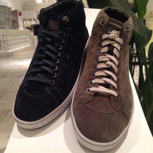 SANTONI / 'Escolar' Suede Sneakers Navy,Tan