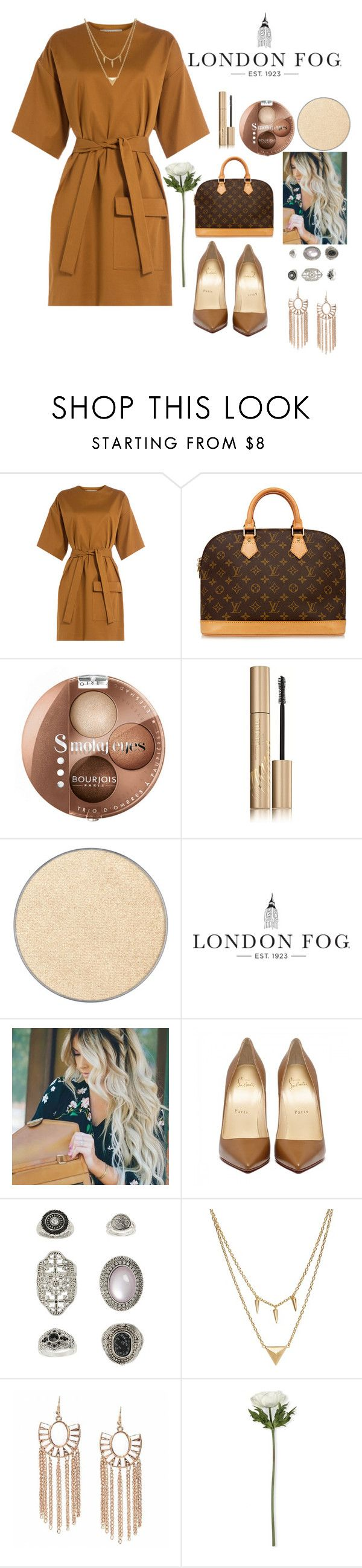 """""""nice."""" by remooooo ❤ liked on Polyvore featuring MSGM, Louis Vuitton, Bourjois, Stila, Anastasia Beverly Hills, London Fog, Topshop, Edge of Ember and Sia"""