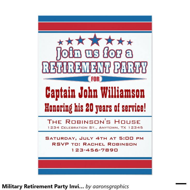 44 best Military retirement party invitations images on Pinterest ...