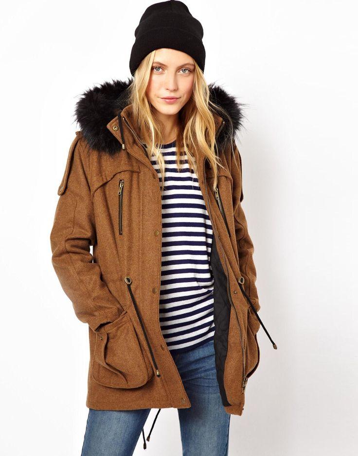19 best Coats images on Pinterest | Fur trim, Hooded parka and ...