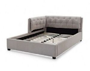 Tufted Reversible Sofa Lounge Daybed  Couch Full Size Day Bed Corner Stone Gray