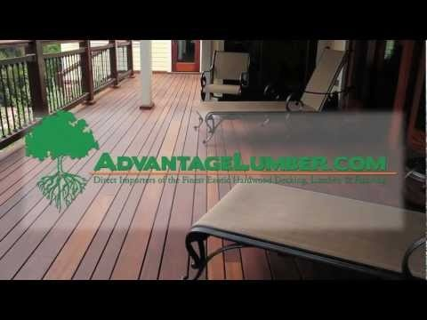 Fantastic video about Cumaru decking and why it's such a great value compared to other more expensive decking options. AdvantageLumber.com ® #wood #lumber