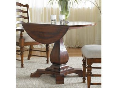 Waverly Place Round Drop Leaf Pedestal Table 366-75-218