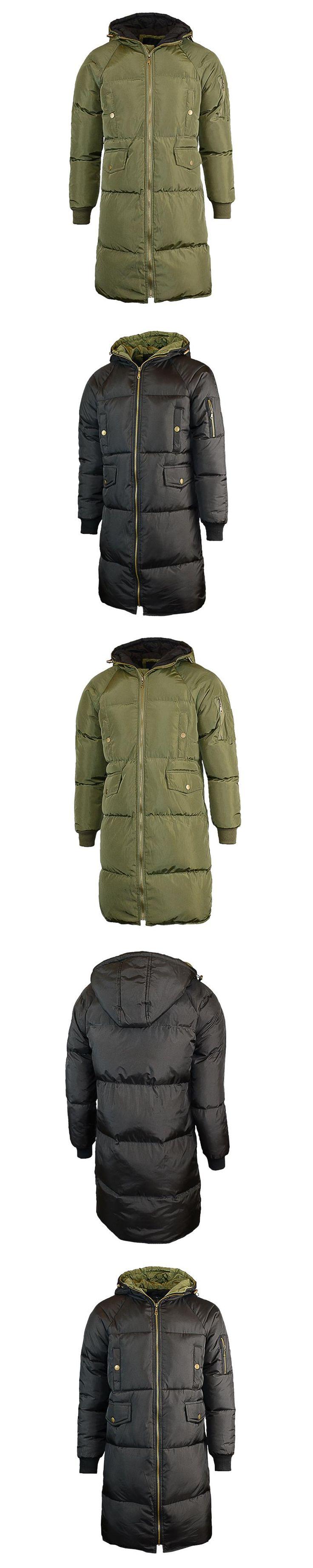 Winter Jacket Men 2017 Fashion High Quality Men's Hooded Long Hooded Trench Coat Jacket Slim Fit Winter Warm Parka Men Outwear