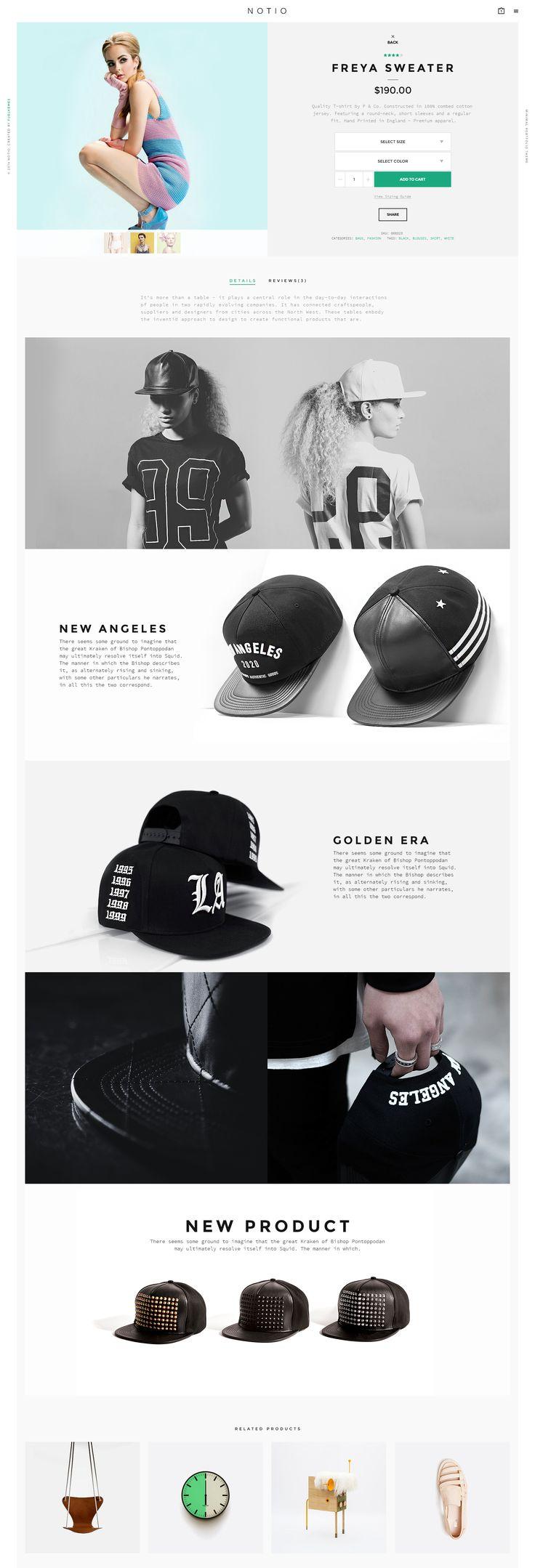 Notio by Aykut Yılmaz #web #webdesign #design #layout #grid #fashion #ecommerce