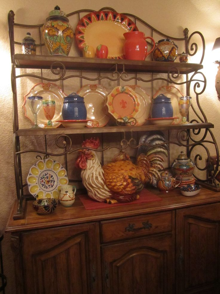 Bakers rack decor ideas                                                                                                                                                                                 More